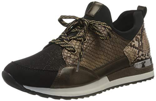 Remonte Damen R2503 Sneaker, Schwarz/Schwarz-Bronze/Antik/Antik/Schwarz/Brown/ 24, 40 EU