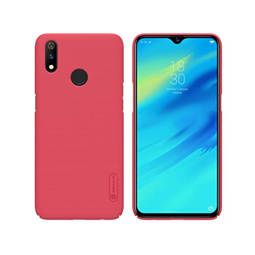 """XunEda Oppo Realme 3 PRO 6.3"""" Cover Custodia, Ultra Sottile Finitura Opaca Anti-Scivolo Protettiva Custodia in Plastica Rigida Antiurto Case per Oppo Realme 3 PRO Smartphone (Rosso)"""