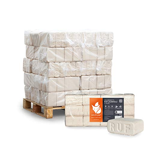 PALIGO Holzbriketts Laubholz Ruf Classic Kamin Ofen Brenn Holz Heiz Brikett 10kg x 30 Gebinde 300kg / 1 Palette Heizfuxx