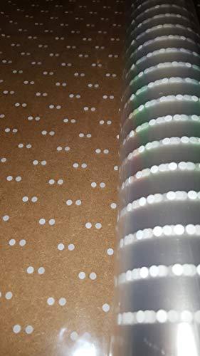 5m x 80cm white dot cellophane wrap/ roll floristry by floral natalie