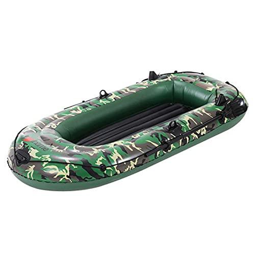Barco inflable Kayak inflable 2/3 personas Pesca Pesca Pesca Kayak Canoa, PVC Doble Espesado Plegable Resistente al Desgaste Barco Kayak con Remos y Bomba para la Deriva Pesca Diversión del Agua
