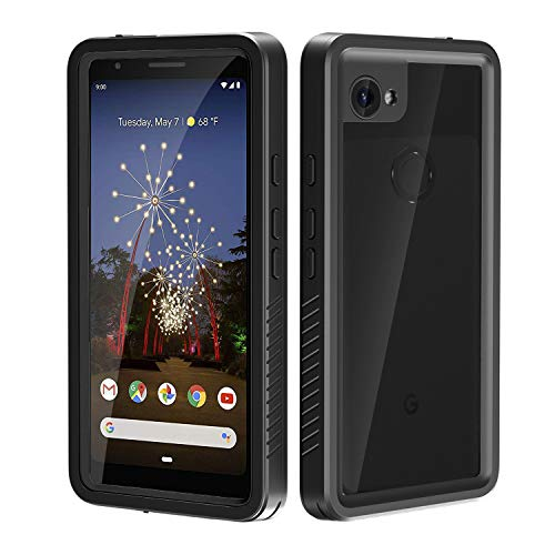 meritcase Google Pixel 3a XL Case, Built in Screen Protector Waterproof Pixel 3a XL Case, Full Body Shockproof Dustproof Protective Phone Case Cover for Google Pixel 3a XL