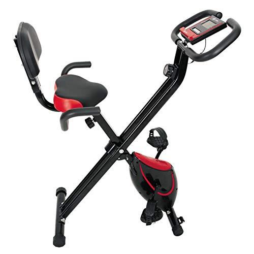 BTTHWR Indoor Folding Heimtrainer, tragbares, einstellbares Fitness-Ausdauer-Heimtrainer für das Heim-Fitnessstudio Cardio-Training mit Digitalanzeige, Einstellbarer Widerstand