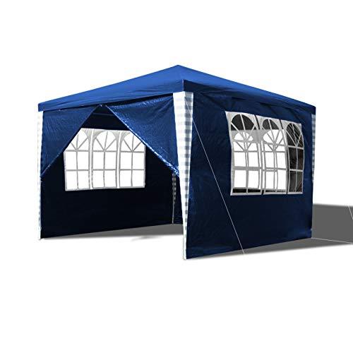Hengda Pavillon 3x3m Wasserdicht ochzeit Festzelt UV-Schutz Stabiles hochwertiges Gartenpavillon mit 4 Seitenteile für Garten Festival Party