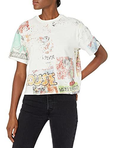 Desigual TS_Vintage Comic Camiseta, Blanco, L para Mujer