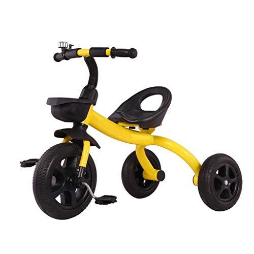 GYF Triciclo Infantil del Niño Edad 2-6 Años De Edad 3 En 1 Multi-función Triciclo 3 Colores Asamblea Rápida |60x50x78cm Asiento Ajustable (Color : Yellow)