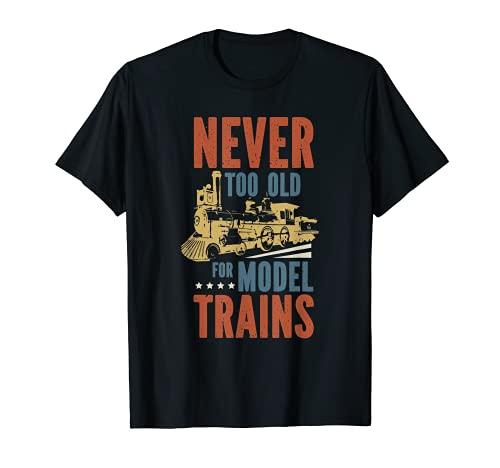 divertida maqueta de locomotora de tren ferroviario Camiseta