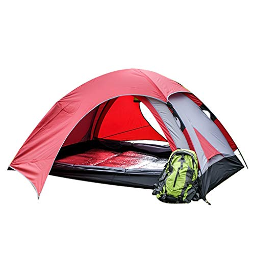 Camping Tents, 1-2 People Outdoor Tent | Thickening Rain Portable Camping Tents | Outdoor Camping For Hiking, Red