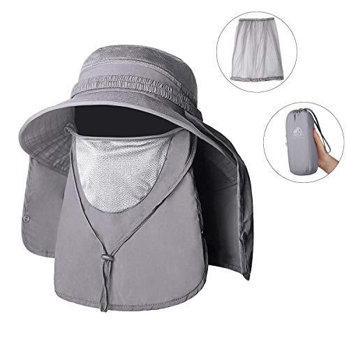 Unigear Sombrero para el Sol Gorro Pescador Anti-UV UPF50+ Gorra Pesca