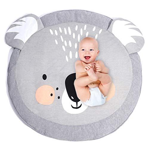 Copertina per gattonare in cotone, Tappeto per Bambini, gioco coperta Carpet, Leone del fumetto Tappeto, tappeto tondo bambini, Tappeto da gioco per bambini, Baby Game Tappeto (Koala)