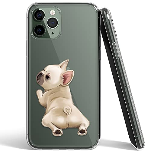 French Bulldog Phone Case Compatible with iPhone 11 Pro,Soft TPU Silicone Slim Transparent Protective Case for iPhone 11 Pro,Gift for Women Girls