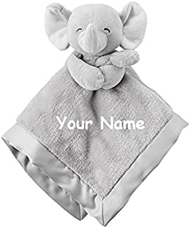 Personalized Carter's Elephant Cuddle Baby Snuggle Blanky Blanket - 14 Inches …