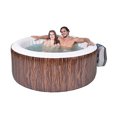 WSN Inflatable Hot Tub, Portable 4 Person Outdoor Inflatable Hot Tub Spa, Heated Swimming Pool with Adjustable Temperature for Unisex