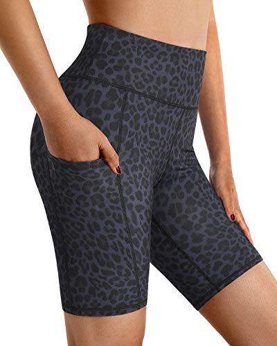 G4Free Promover Pantalones Cortos de Yoga para Mujer Leggings de Cintura Alta con Bolsillos Control de Abdomen Leggings de Yoga Elásticos de 4 Vías Pantalones de Entrenamiento