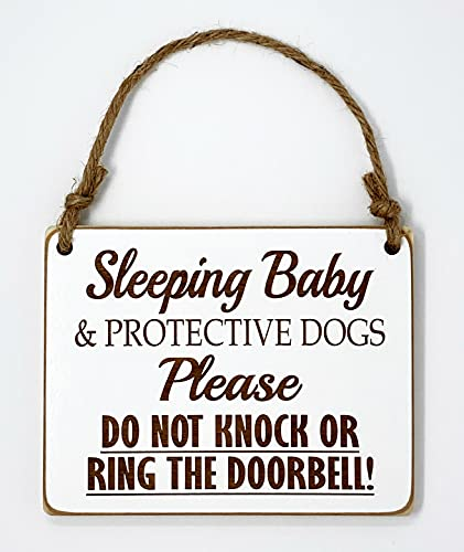 Sleeping Baby & Protective Dogs - Please Do Not Disturb Sign - Baby Sleeping Sign - Baby Shower Gift