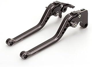 Kupplungshebel 1 Paar verstellbare Falten CNC Bremskupplungshebel Kompatibel mit Kawasaki Z1000 2003-2006 VERSYS 1000 2012-2014,Schwarz