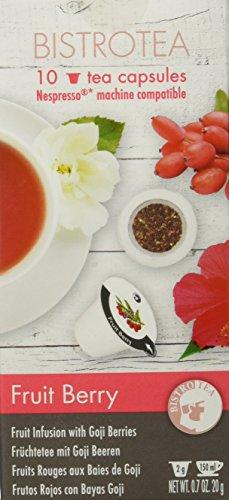 Bistrotea Tee-Kapseln - Früchtetee Fruit Berry - NespressoMaschinen kompatibel, 100 g