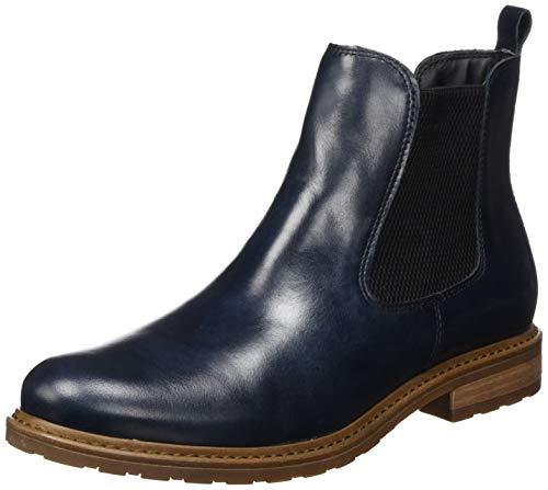 Tamaris Damen 25056-21 Chelsea Boots, Blau, 38 EU