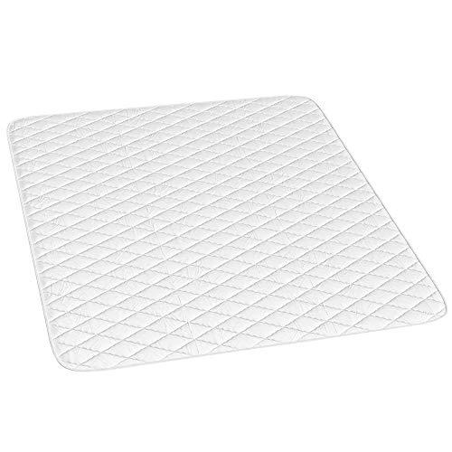 VitaliSpa Matratzenschoner Topper Matratzen-Auflage weiß Boxpspringbett/Anti Rutsch Versteppung / (180 x 200 cm)