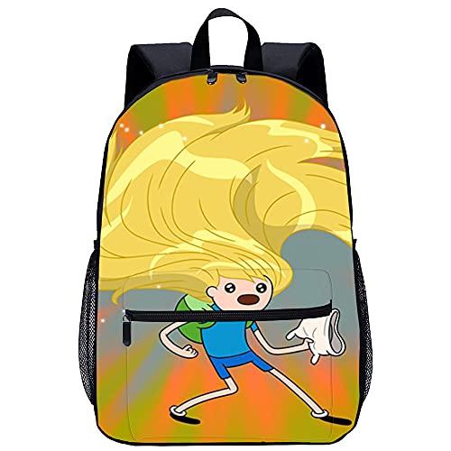 CHDBB Zaino per uomo e donna Adventure time Zaino scuola per adolescenti Zaino da scuola leggero ed elegante per studenti