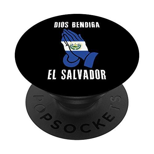 El Salvador Dios Bendiga Pupusas Salvadoreno Bukele Idea God PopSockets PopGrip: Swappable Grip for Phones & Tablets