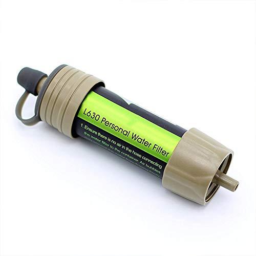 Filtro de Agua Personal Mini purificador de Agua portátil Purificador de Agua por Gravedad de Paja, para Caminatas, campamentos, Viajes y emergencias