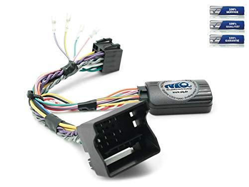 NIQ CAN-Bus Lenkradfernbedienungsadapter geeignet für PIONEER Autoradios, kompatibel mit Mercedes-Benz A-Klasse | B-Klasse | C-Klasse | CLC | CLK | ML | R-Klasse | SL | SLK | Sprinter | Viano | Vito