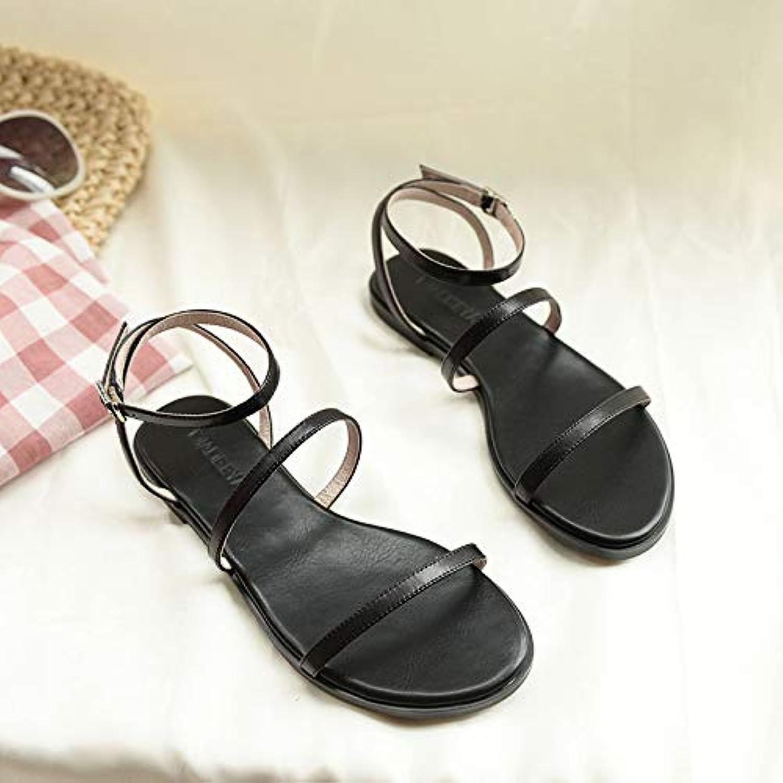 Shukun Shukun Shukun Sandalen für Damen Römische Schuhe Sandalen Weibliche Wohnung Fee Temperament Einfache Urlaub Tourismus Strand Sommer Küste Frauen Schuhe  df6a50