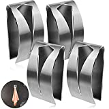 4 Pieces Self Adhesive Towel Hook Holder Grabber, Stainless Steel Kitchen Dish Towel Hook Wall Mount Non-Drilling Towel Hangers Rack Hand Towel Hook Tea Towel Holders for Bathroom Kitchen
