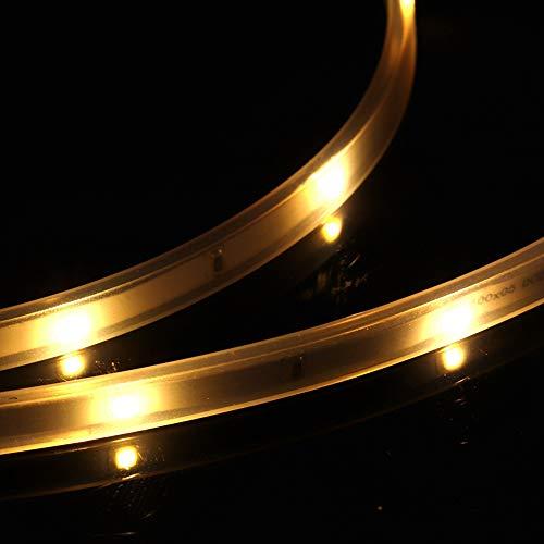 Junlucki Cadena de Luces LED, Resistente y Duradera, Resistente al Agua, para césped de jardín y árbol de Navidad(3000K (Warm White))
