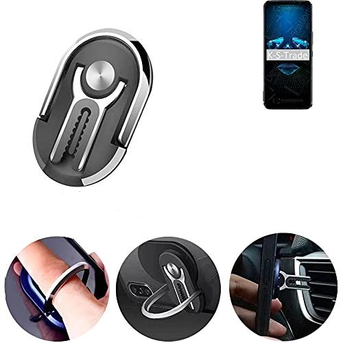 K-S-Trade Anello per smartphone 3 in 1, compatibile con Archos X67 5G, supporto per dita per cellulare, supporto da tavolo, griglia di ventilazione