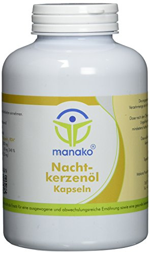 manako Nachtkerzenöl Kapseln, 400 Stück, Dose a 280 g (1 x 400 Kapseln)