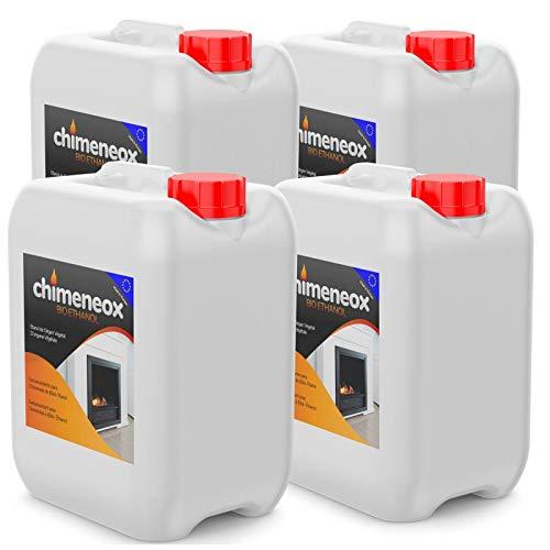 20 Litros Bioetanol para Chimeneas Etanol de origen Vegetal en Garrafa