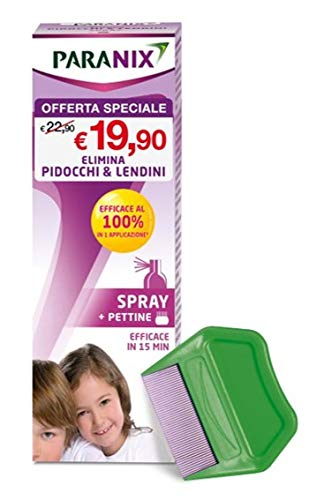 Paranix Spray elimina pidocchi e lendini 100ml + pettine