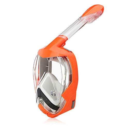 Zeraty Snorkel Mask (Gel di silice liquida), Maschera Snorkeling Integrale Pieghevole con Supporto per Telecamera Rimovibile, Sistema di Scarico di Nuova Generazione, Anti-Fog Anti-Leak