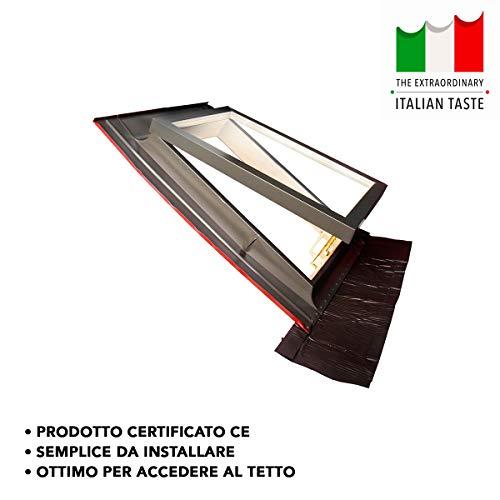 Lucernario/Finestra da tetto - Linea Best - apertura vasistas in alluminio - Emica (48x72 Base x Altezza)