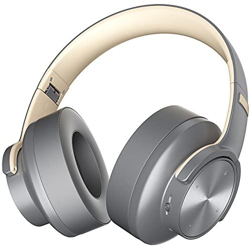 Auriculares Bluetooth de Diadema Bluetooth 5.0 Cascos Bluetooth Inalambricos Plegable Micrófono Incorporado y Hi-Fi Estéreo