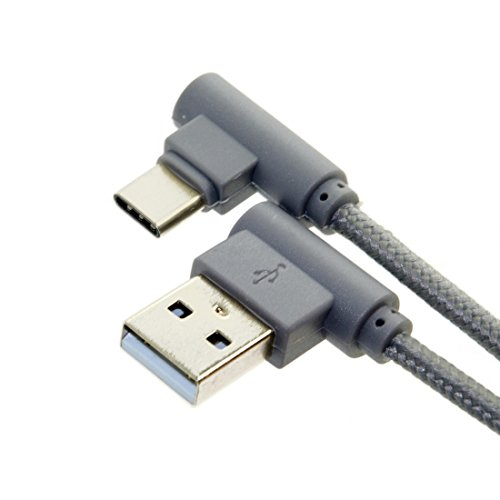 CY USB-C Type-C naar USB-kabel voor tablet Mobiele telefoon USB C naar USB 2.0 Datakabel Links 90 graden met sleeve