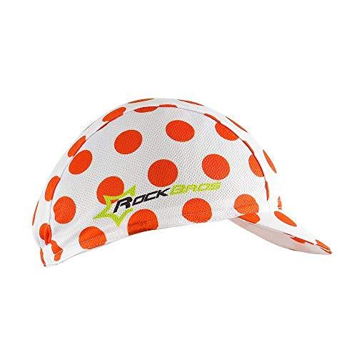 HYSENM Tour de France Hut Sonnenhut Kappe Mütze Kopfbedeckung wasserdicht bequem Raden Fahrrad Rennrad Motorrad, Rot Punkte