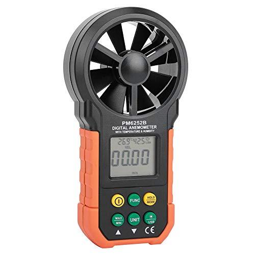 Windgeschwindigkeitsmesser mit mehreren Einheiten, digitaler Windmesser, tragbar in Echtzeit zur Temperaturmessung