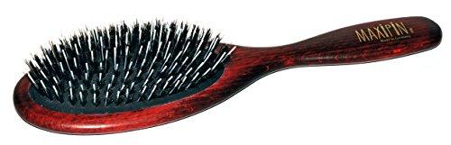 Spazzola per pellicce di cane Maxipins spazzola ovale grande, con setole di cinghiale puro e spille da parrucchiere. Adatto anche per pelli di gatti e altri animali domestici, ca. 23 x 6,5 cm