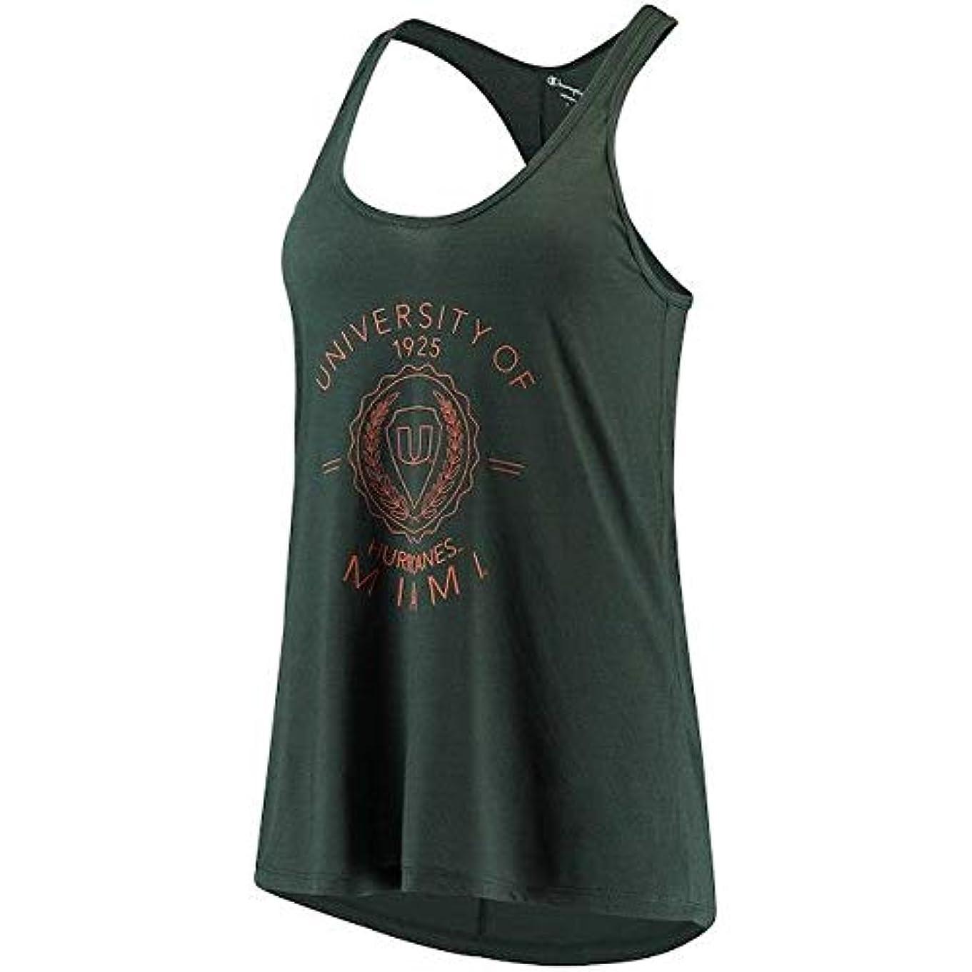 移行する最適コミュニケーションChampion Champion Miami Hurricanes Women's Hunter Green Eco Swing Tank Top スポーツ用品 【並行輸入品】