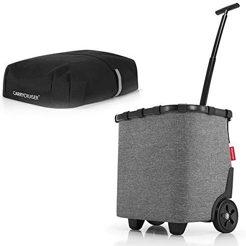 reisenthel Angebot Einkaufstrolley carrycruiser Plus gratis Cover Abdeckung und Sichtschutz! (Twist Silver)