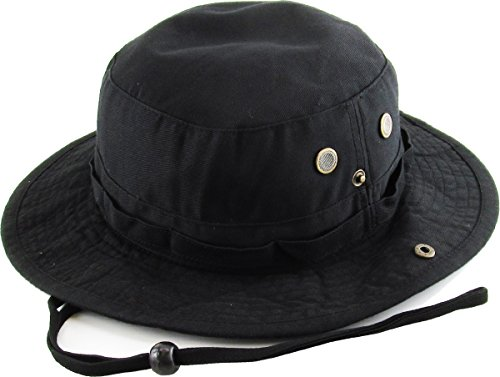 KB-BUCKET2 BLK Boonie Bucket Hat Cap Fishing Outdoor Activities
