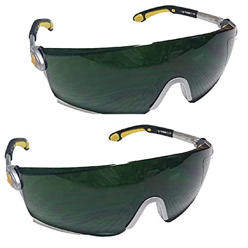 (ジック) 溶接 保護メガネ 溶接メガネ ゴーグル 保護めがね 溶接眼鏡 2個セット 軽量素材 溶接保護メガネ (2個セット)