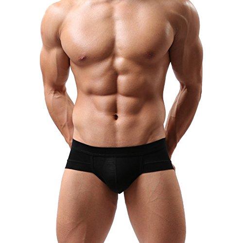 DDSCOLOUR Slip Uomo Triangolo Underwear Modal Stretch Morbida Breve Nero-Rosso-Bianco XX-Large 3 pezzi