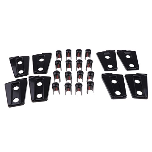 prasku Cubiertas de Bisagras de Puerta Negras de 8 Piezas para Wrangler 07-18 4 Puertas