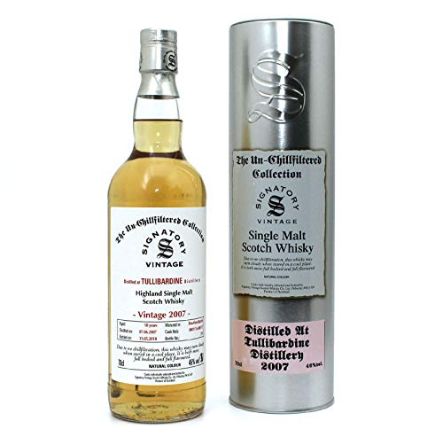 Tullibardine 2007 - Bourbon Cask - Signatory Vintage Un-Chillfiltered Collection 46%