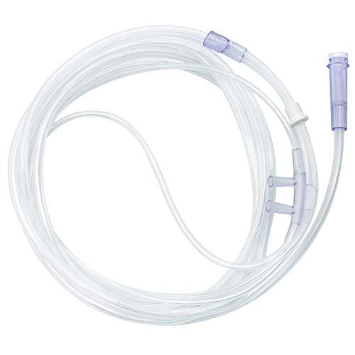 AIESI® Occhiali per ossigenoterapia (Cannule nasali) per adulti con tubo da 2,1 metri (Confezione da 10 pezzi)