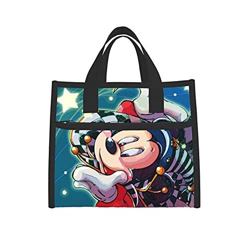 Bolsa de almuerzo aislada Mickey Mouse Cool Cooler Boxes con red impermeable bolsa de mano para mujeres escuela